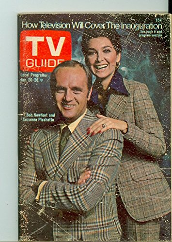 1973 TV Guide Jan 20 Bob Newhart and Suzanne Pleshette of Newhart (First Cover) - Eastern New England Edition NO...