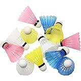 Hysagtek 12 Plastic Badminton ShuttleCocks Shuttle Cocks Indoor Outdoor Sport Training Garden Game Random Color