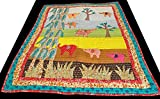 Multicolor Children's Blanket from Dehradun with Patch-work - Pure Cotton