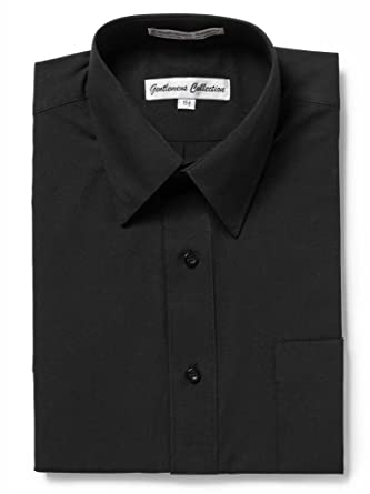 773a942e Gentlemens Collection Mens Short Sleeve Classic Fit Wrinkle Free Dress Shirt  (14.5 black)