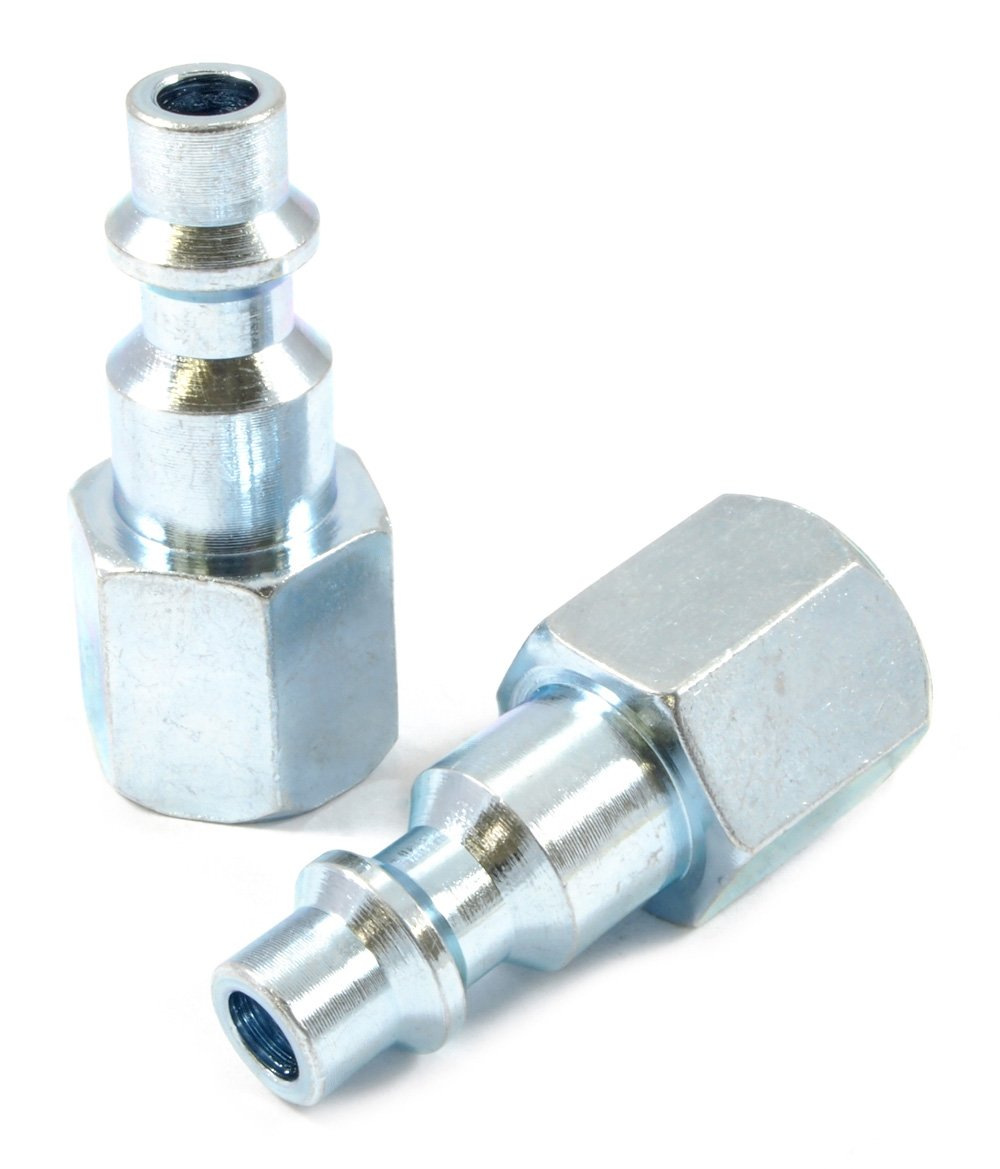 Forney 75602 Air Fitting Plug 1//4-Inch by 1//4-Inch Female NPT 2-Pack Industrial Milton