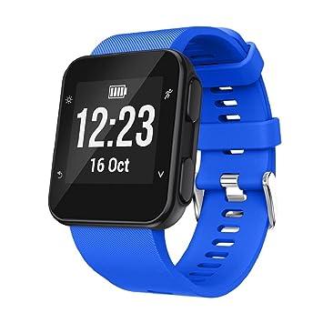 Correa de repuesto de silicona para reloj inteligente Garmin Forerunner 35., color azul: Amazon.es: Deportes y aire libre