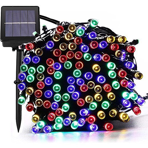 ([72ft 200 Led] Solar Outdoor String Lights/ Fairy Outside Lighting Yard Patio Decoration, 8 Mode (Steady, Flash), Waterproof, Garden Decor, Halloween, Christmas, Tree, Party, Holiday (Multi-Color))
