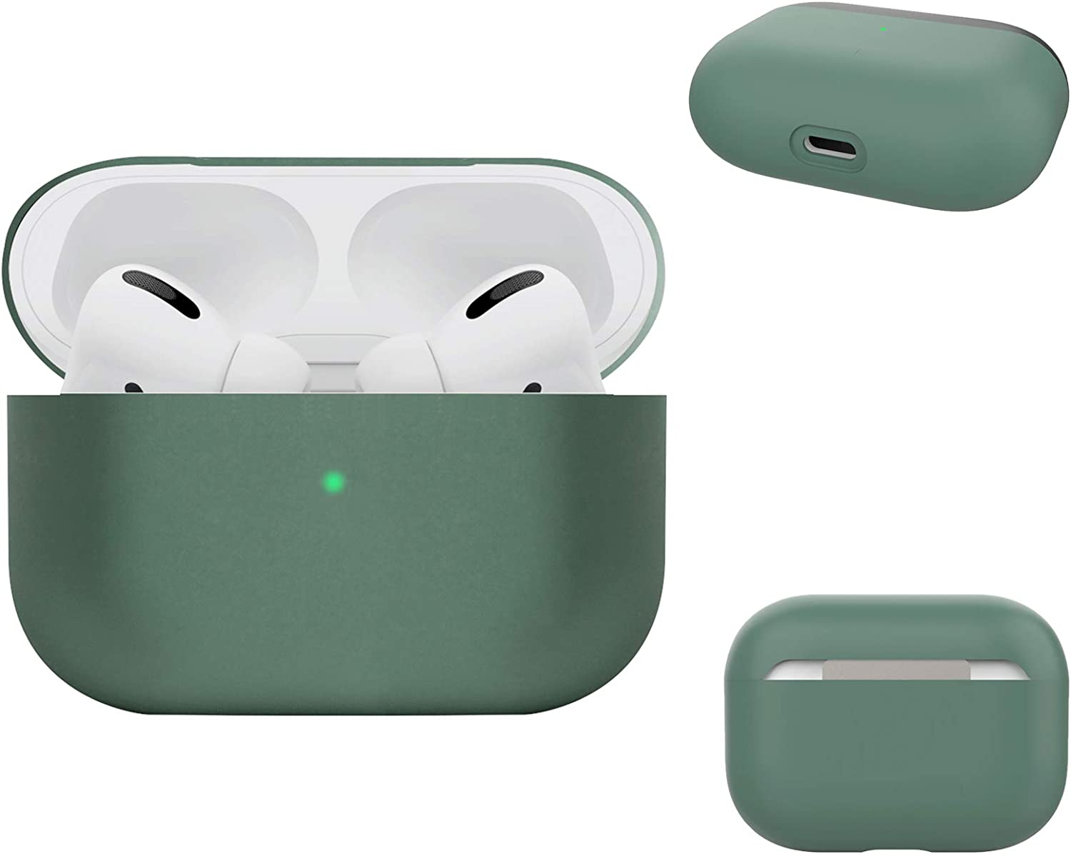 Airpods Case Protective Cover Front LED Visible Acrylic Compatible with Apple AirPods 2 and 1