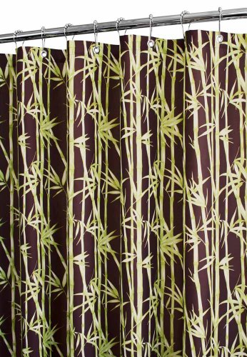 Bamboo Garden Shower Curtain in Coffeebean (Curtains Shower Watershed)
