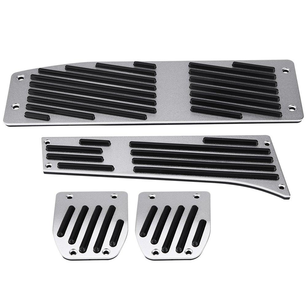 Car Foot Pedal Set 4pcs Car Manual Transmission Clutch Brake Foot Rest Pedal Pad for BMW 1//3//5//7//X1 Series E30 E32 E34 E36 E38 E39 E46 E87 E90 E91 E92