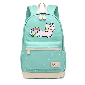 Amazon.com: Cat Lovely Cute Canvas Bag Flowers Wave Point Rucksacks Backpack Travel Shoulder Bag: Beauty Nail Shop