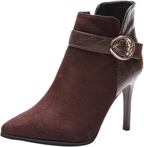 Stivali con Tacco Alto con Fibbia Donna Impermeabile
