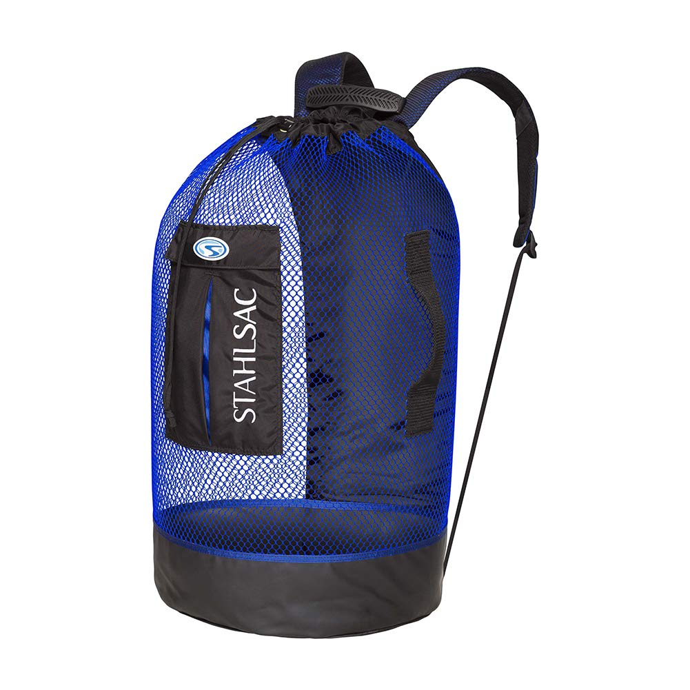 Stahlsac by Bare Panama Mesh Backpack (Black/Blue) by Stahlsac