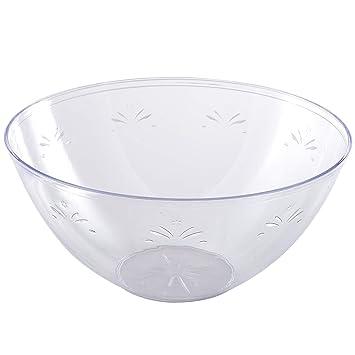 Platos desechables (plástico transparente   cuencos (en Classic diseño de  cristal 19da6002f0f1