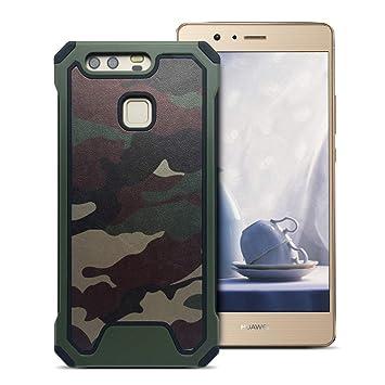 MOEVN Huawei P9 Funda Armor, Huawei P9 Carcasa Camuflaje PC + TPU 2 en 1 Silicone Cover Protección Duro Caso Choque Amortiguador Antigolpes Ultrafina ...