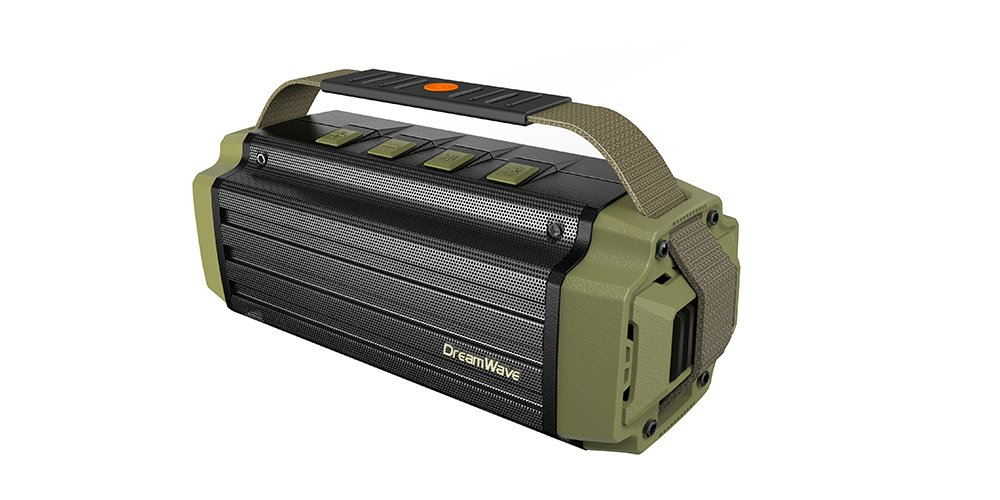 427aeeaa3 Amazon.com  Dreamwave Tremor Army Green Black Aluminum Wireless 50W Rugged  Outdoor Bluetooth Speaker  Automotive