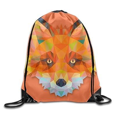 a621b3c0f8 3D Print Drawstring Backpack Rucksack Shoulder Bags Gym Bag Lightweight  Travel Backpack Solid Geometry Fox