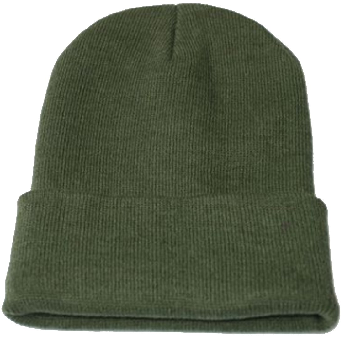 Kuyou neutral winter Fluorescent knitted hat knitting skull cap (ArmyGreen)  at Amazon Men s Clothing store  7d2bea5921d