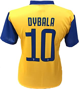 Camiseta Jersey Futbol Segundo Amarillo Juventus Paulo Dybala 10 ...