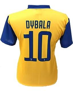 Camiseta Jersey Futbol Segundo Amarillo Juventus Paulo Dybala 10 Replica Autorizado 2017-2018 Niños Adultos