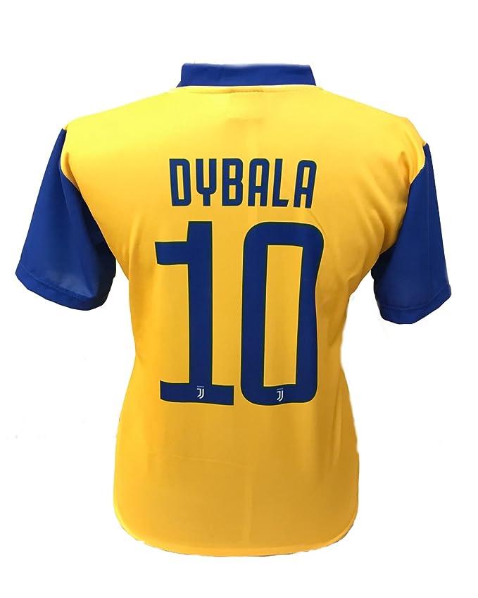 Camiseta Jersey Futbol Segundo Amarillo Juventus Paulo Dybala 10 Replica Autorizado 2017-2018 Niños Adultos: Amazon.es: Deportes y aire libre
