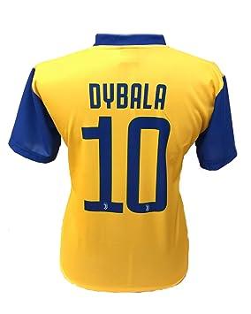 ac2a7a4f00fc7 Camiseta Jersey Futbol Segundo Amarillo Juventus Paulo Dybala 10 Replica  Autorizado 2017-2018 Niños Adultos (Talla 2 Años)  Amazon.es  Deportes y  aire libre