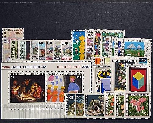 Goldhahn Liechtenstein Jahrgang 2000 postfrisch  Briefmarken für Goldhahn