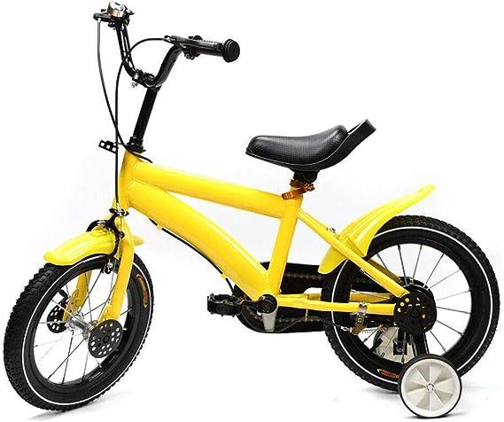 WDVVPepy - Bicicleta Infantil de Cars para niñas, 14 Pulgadas, Amarillo: Amazon.es: Deportes y aire libre