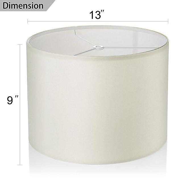 Amazon.com: Wellmet - Juego de 2 pantallas para lámpara de ...