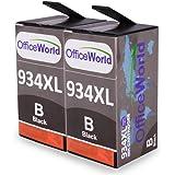 OfficeWorld Sostituzione per HP 934 934XL Nero Cartucce d'inchiostro Alta Capacità con Nuovi Chip per HP Officejet Pro 6830 6230 6820 6812 6815 6835