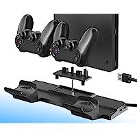 ElecGear PS4 Soporte Vertical con Dual Estación de Carga de Mandos Controller Cargador para DualShock 4 Controller con…