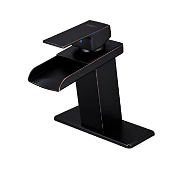 Bwe Oil Rubbed Bronze Waterfall Bathroom Faucet Single Handle One