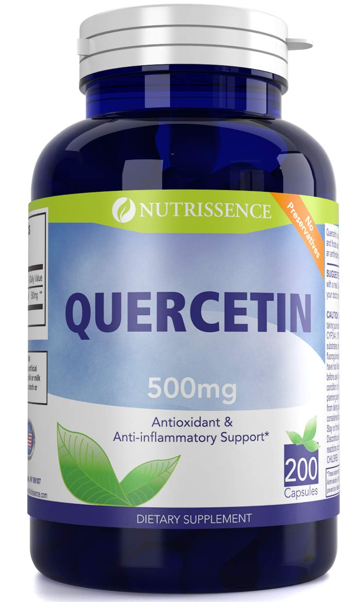 Quercetin 500mg 200 Capsules - Nutrissence by House market