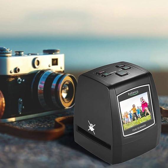 No se Requiere PC y Software Esc/áner de Diapositivas y Negativos con 4.3 LCD TFT para Super-8 110 mm y 126 mm Negativos y Diapositivas Digitalizador de Alta resoluci/ón de 22MP 35 mm