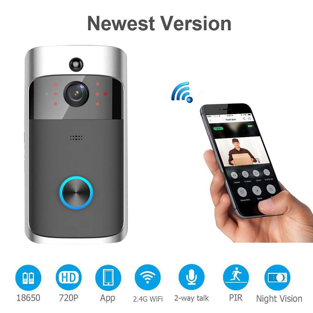 COL PETTI Night Vision WiFi Smart Video Doorbell Wireless Portable Home Door Bell Akku-Telefon Intercom Smart Home Parts