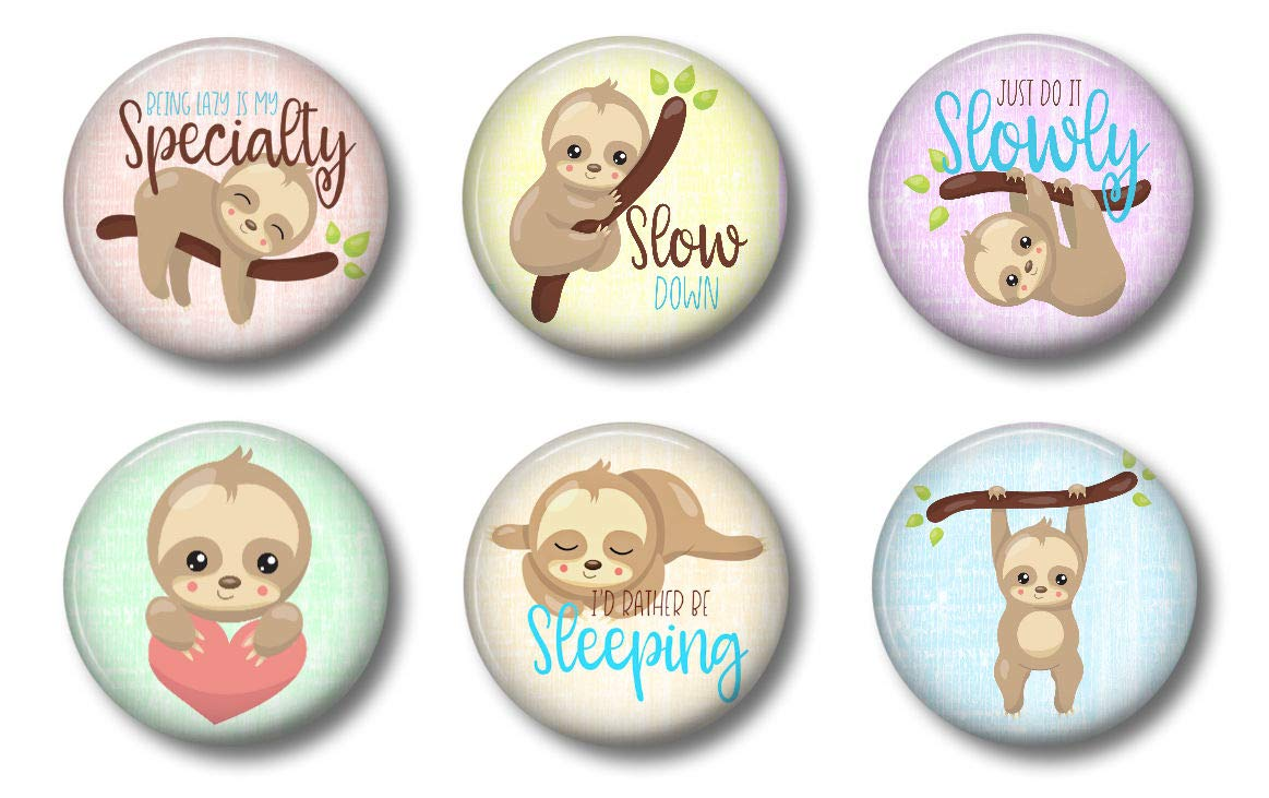 Cute Locker Magnets For Teens - Sloth Magnets - Fun School Supplies - Whiteboard Office or Fridge - Funny Magnet Gift Set (3)
