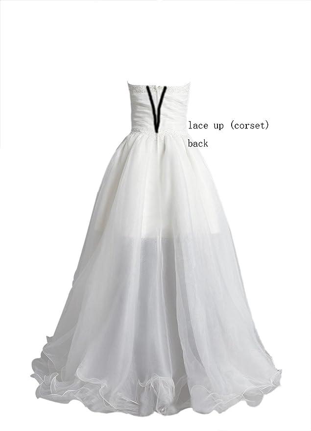 O.D.W Damen Lange Kurze Vintage Brautkleider Rustikale ...