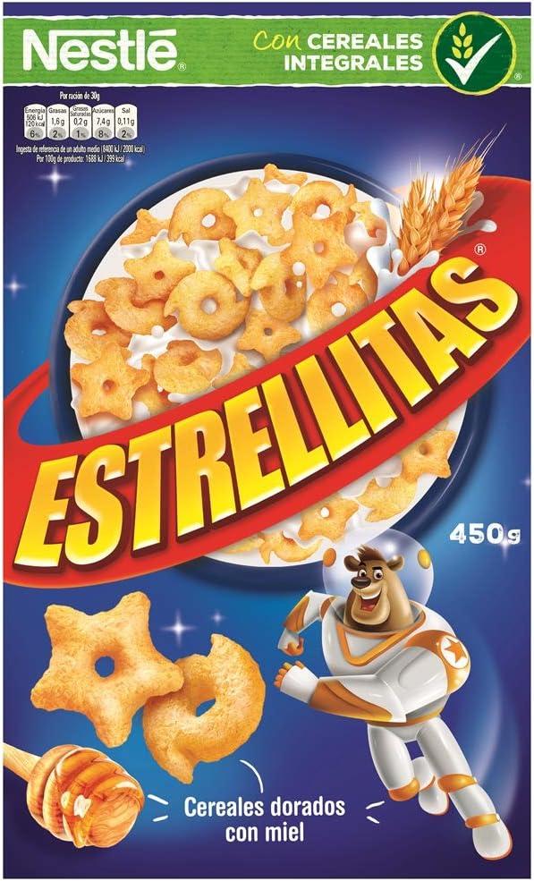 Cereales Nestlé Estrellitas Cereales de trigo y maíz tostados con miel - Paquete de cereales de 450 gr: Amazon.es: Alimentación y bebidas