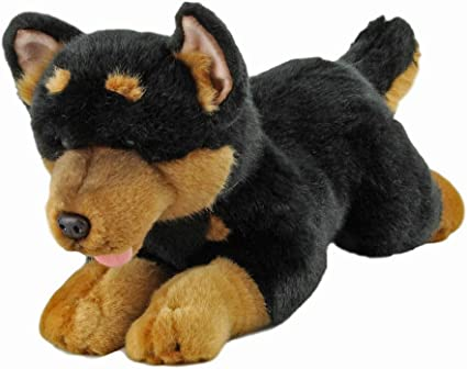 Plush Dog STAFFORDSHIRE BULL TERRIER Black Soft Cute Collectable Toy Stuffed