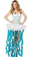 MV Women Jellyfish Cosplay Costume Sea Themed Costume Animal Party Pack Halloween Cosplay Costume Dress Clothing