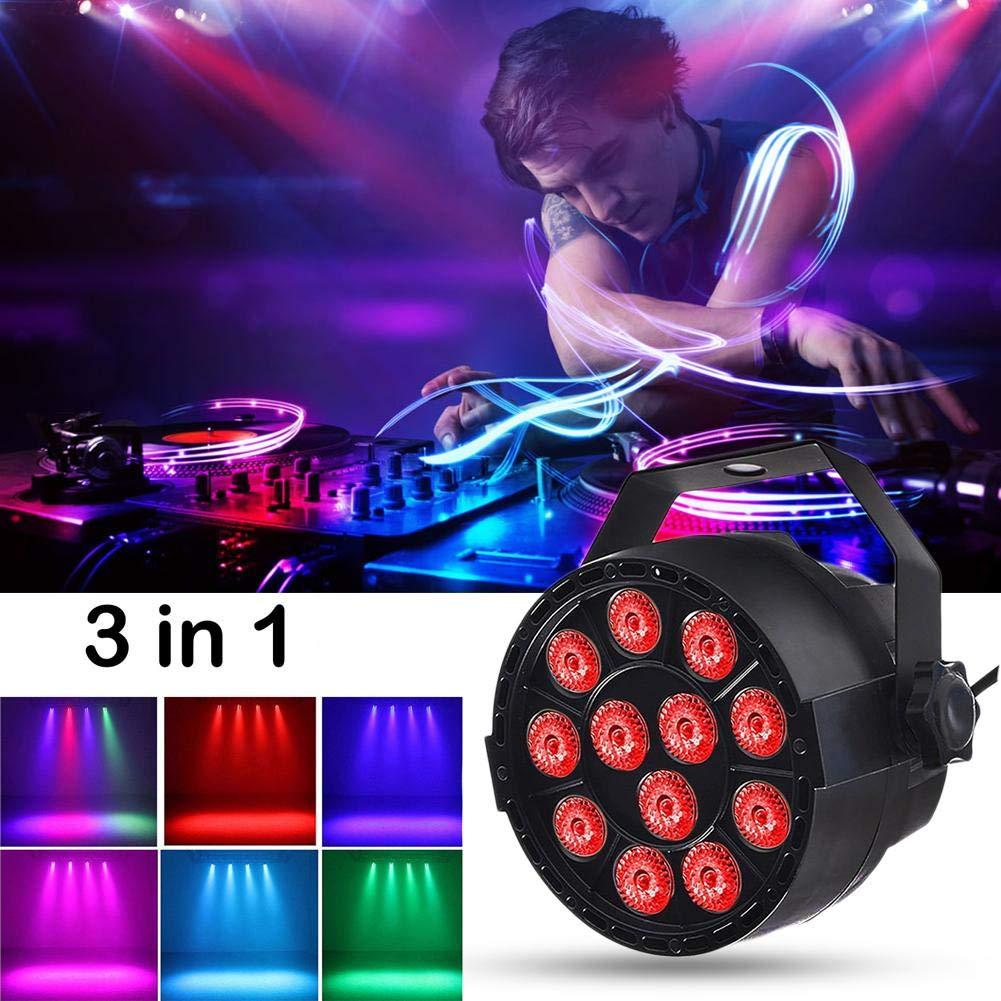 Longshow StageLight - Light 12 LED RGB 18W Stage Lighting DMX 512 Lantern Suitable for Club Disco Party Ballroom KTV Bar Wedding DJ