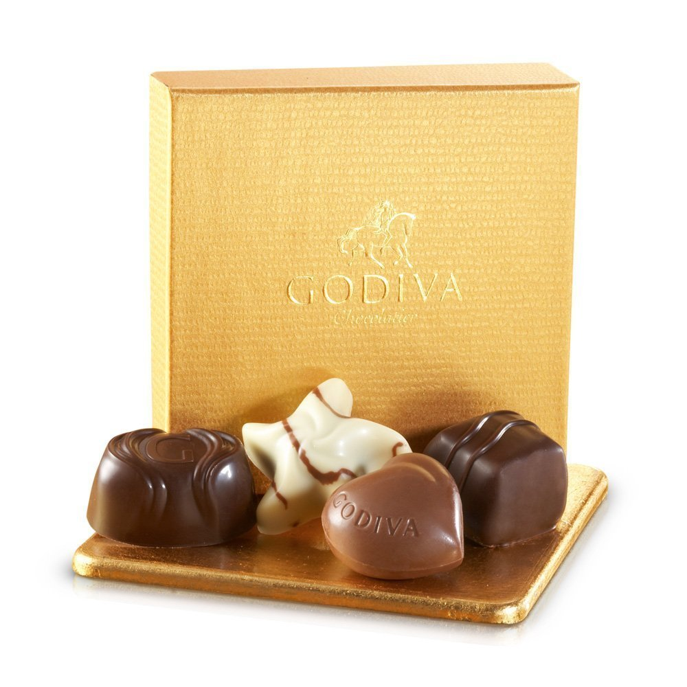 Godiva Chocolatier 24 Individually Packaged, 4-Piece Belgian Chocolate Gold Ballotins, Perfect for Bridal Showers - Parties - Wedding Favors