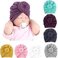 Simoda 7/8 Pcs Kids Baby Bohemian Turban Headbands Super Suave algodón Lindo Turban Knot Caps