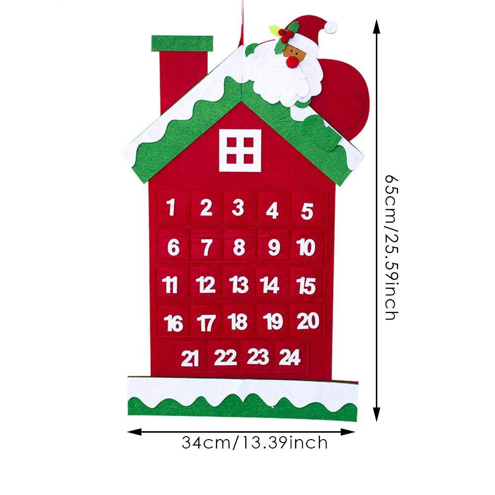 Wood.L Arbol De Navidad Fieltro Calendario,Árbol De Navidad De ...