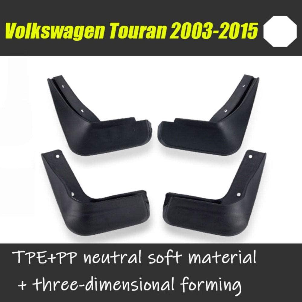 F/ür Volkswagen VW Touran 2003-2015 Vorne Hinten Spritzschutz Set Schrauben 4Pcs Schmutzf/änger Gummi Kotfl/ügel Schwarz Verbesserte Fender Styling /& Body Fittings Mud Flaps Splash Guards