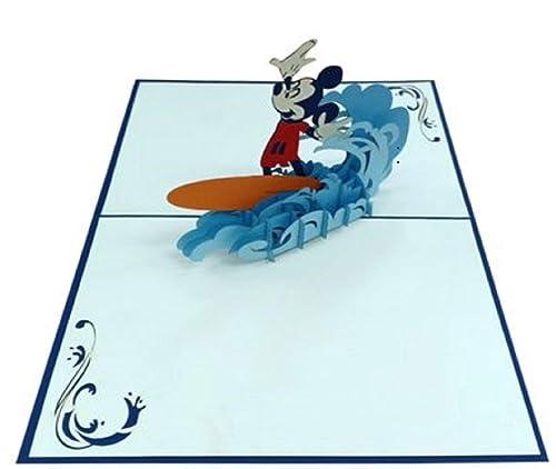 Tarjeta de cumpleaños emergente 3D hecha a mano Mickey Mouse ...