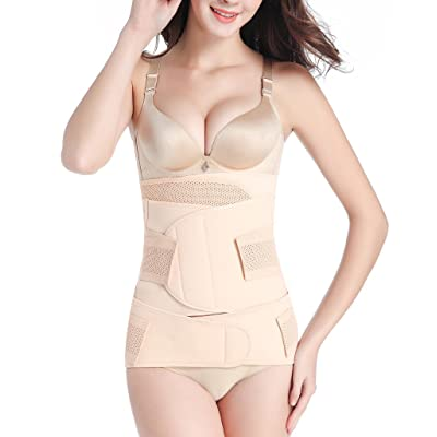 SAYFUT 3 in 1 Best Postpartum Girdle Support Recovery Belly/Waist/Pelvis Belt Shapewear at Women's Clothing store