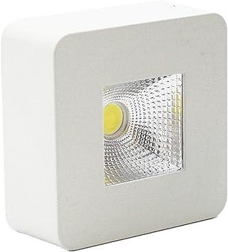 Lediary, lámpara de techo, 5 W luz led, foco para empotrar, blanco, cuadrado, superficie pequeña, luz blanca cálida, 90-260 V.: Amazon.es: Iluminación