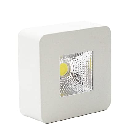 Lediary, lámpara de techo, 5 W luz led, foco para empotrar, blanco, cuadrado, superficie pequeña, luz blanca cálida, 90-260 V.