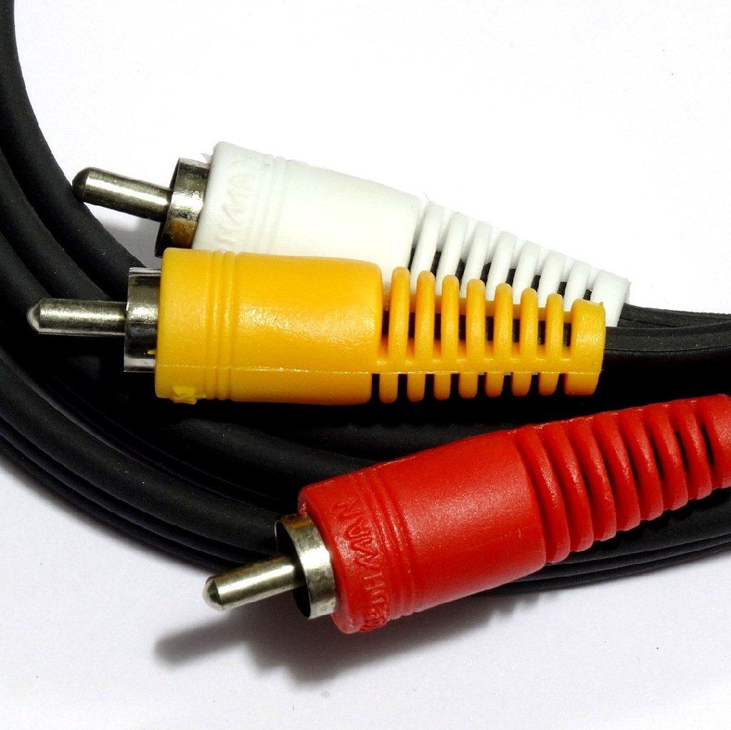 100/% Pure Copper Premium 50 feet Gold 3 RCA Audio Video Composite Cable