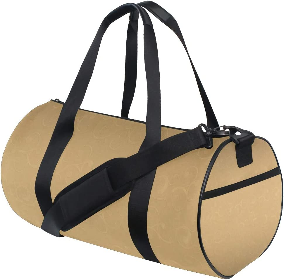MALPLENA Classic Royal Paisley Golden Pattern Drum gym duffel bag women Travel Bag
