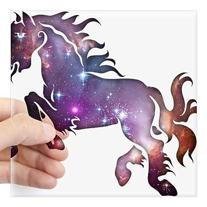 Amazon Com Cafepress Galaxy Horse Sticker Square Bumper Sticker