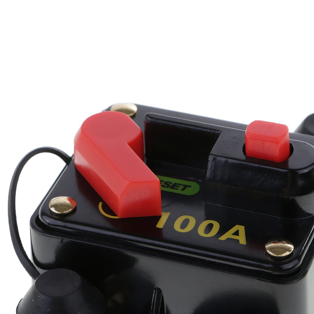 80A Sharplace 12V//24V//32V Automatik Sicherungshalter Sicherungsautomat f/ür Auto Boot