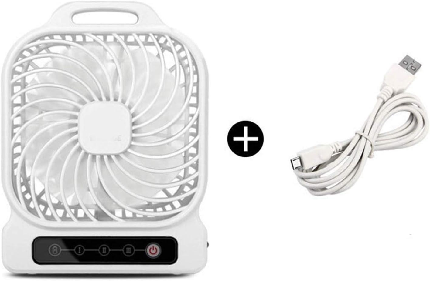 Color : 03 Air Cooling Fan USB Portable Table Fan Desktop Large Wind Mini Fan Office Home Outdoor Personal Fan